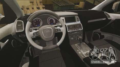 Audi Q7 Unmarked Police [ELS] para GTA 4 vista interior
