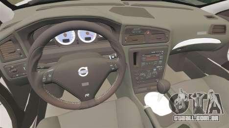 Volvo S60R Police [ELS] para GTA 4 vista interior