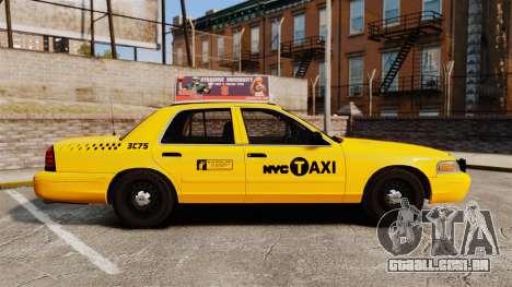 Ford Crown Victoria 1999 NYC Taxi v1.1 para GTA 4 esquerda vista