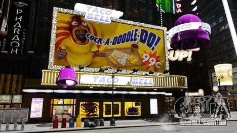 Comer McDonald ' s e Taco Bell para GTA 4 quinto tela
