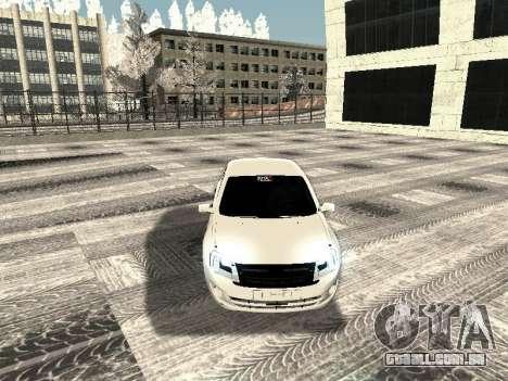 Vaz 2190-1119 para GTA San Andreas vista interior