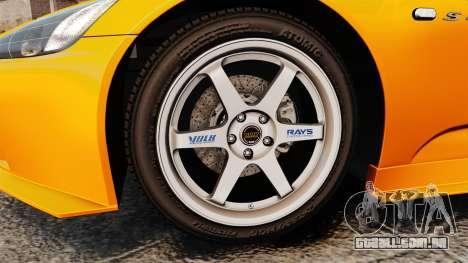 Honda S2000 (AP1) para GTA 4 vista de volta