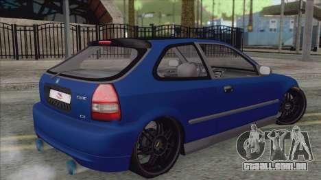 Honda Civic Tuning para GTA San Andreas esquerda vista