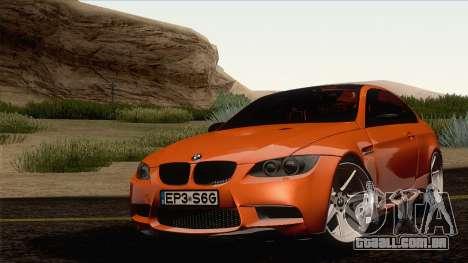 BMW M3 E92 2008 Vossen para GTA San Andreas vista direita
