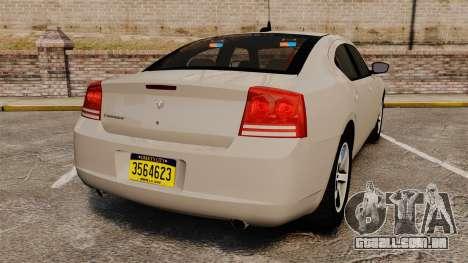 Dodge Charger Unmarked Police [ELS] para GTA 4 traseira esquerda vista