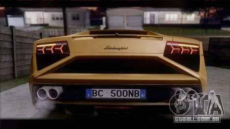Lamborghini Gallardo LP560-4 Coupe 2013 V1.0 para GTA San Andreas traseira esquerda vista