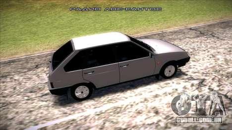 2109 Vaz para GTA San Andreas esquerda vista