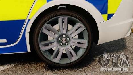 Jaguar XFR 2010 Police Marked [ELS] para GTA 4 vista de volta