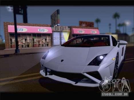 Lamborghini Gallardo 2013 para GTA San Andreas traseira esquerda vista