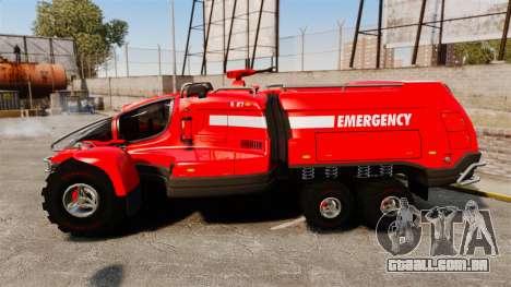 Pro Track SR2 Firetruck [ELS] para GTA 4 esquerda vista