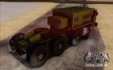 535 MAZ militar para GTA San Andreas esquerda vista