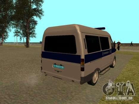 GÁS polícia Sable para GTA San Andreas vista direita