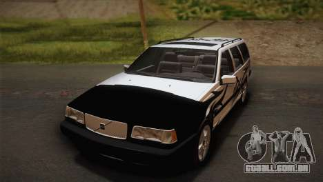 Volvo 850 Estate Turbo 1994 para GTA San Andreas vista traseira