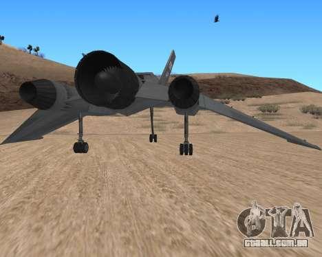 StarGate F-302 para GTA San Andreas vista direita