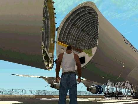 Boeing-747 Dream Lifter para GTA San Andreas vista interior