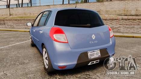 Renault Clio III Phase 2 para GTA 4 traseira esquerda vista