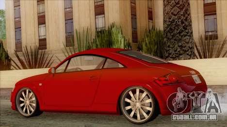 Audi TT 1.8T para GTA San Andreas esquerda vista