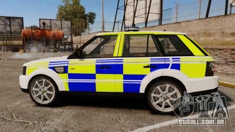 Range Rover Sport Metropolitan Police [ELS] para GTA 4 esquerda vista
