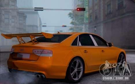 Audi A8 2010 para GTA San Andreas esquerda vista