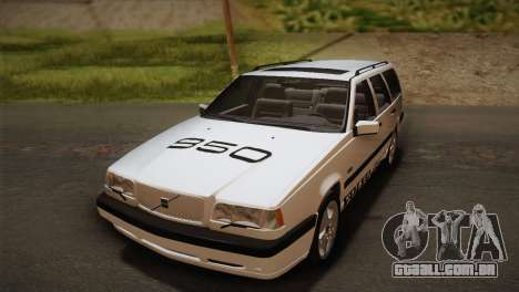 Volvo 850 Estate Turbo 1994 para GTA San Andreas vista interior