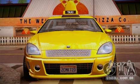 Declasse Premier Taxi para GTA San Andreas vista inferior