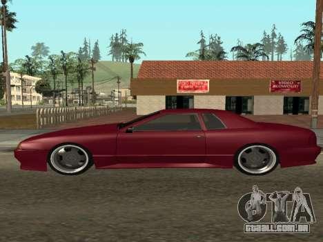 JTX Tuned Elegy para GTA San Andreas esquerda vista