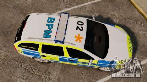 Skoda Octavia Scout RS Metropolitan Police [ELS] para GTA 4 vista direita