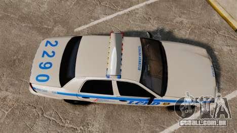 Ford Crown Victoria LCPD [ELS] para GTA 4 vista direita