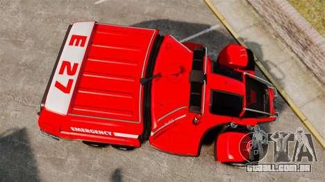 Pro Track SR2 Firetruck [ELS] para GTA 4 vista direita
