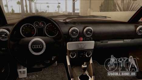 Audi TT 1.8T para GTA San Andreas vista direita