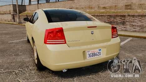 Dodge Charger RT Hemi 2007 para GTA 4 traseira esquerda vista