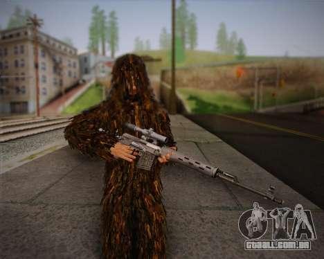 O atirador de pele de Arma 2 para GTA San Andreas por diante tela
