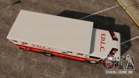 Hazmat Truck FDLC [ELS] para GTA 4 vista direita