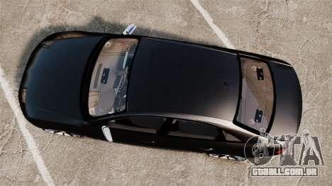 Audi S4 Unmarked Police [ELS] para GTA 4 vista direita