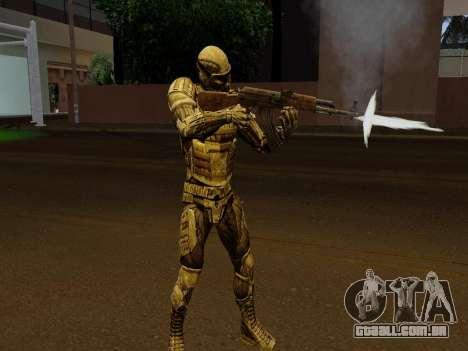 Nano-terno coreano de Crysis para GTA San Andreas quinto tela
