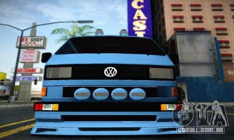 Volkswagen Transporter T2 Tuning para GTA San Andreas traseira esquerda vista