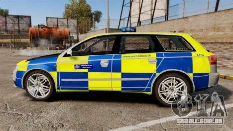 Audi S4 Avant Metropolitan Police [ELS] para GTA 4 esquerda vista