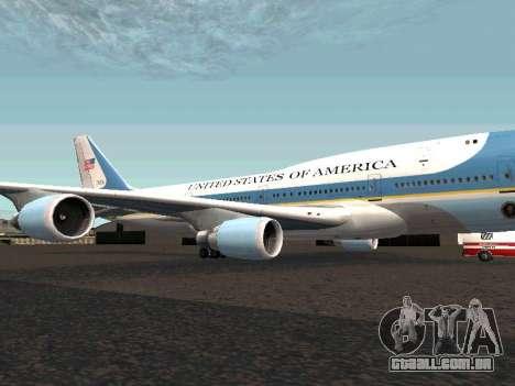 Boeing-747-400 Airforce one para GTA San Andreas esquerda vista