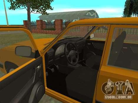 GAZ 3110 Volga para GTA San Andreas vista traseira