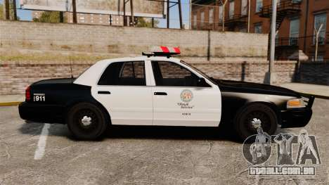 Ford Crown Victoria 1999 LAPD & GTA V LSPD para GTA 4 esquerda vista