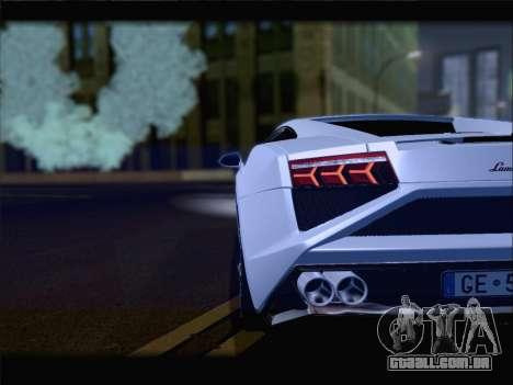 Lamborghini Gallardo 2013 para GTA San Andreas vista superior