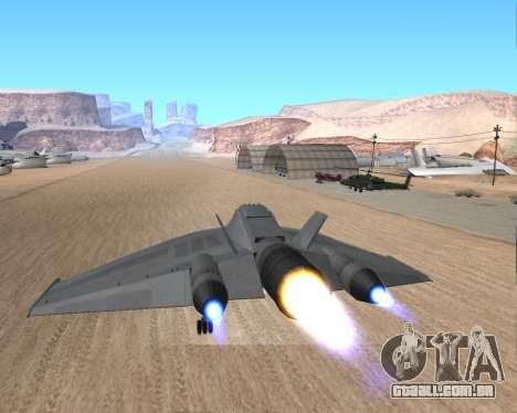 StarGate F-302 para vista lateral GTA San Andreas