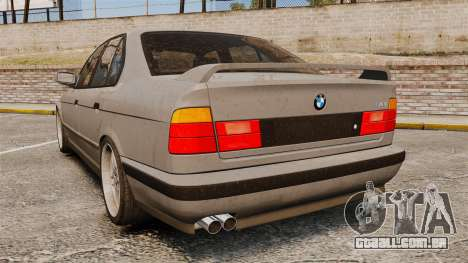 BMW M5 E34 para GTA 4 traseira esquerda vista