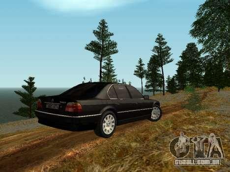 BMW 750i para GTA San Andreas vista direita