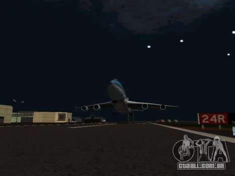 Boeing-747-400 Airforce one para GTA San Andreas vista interior