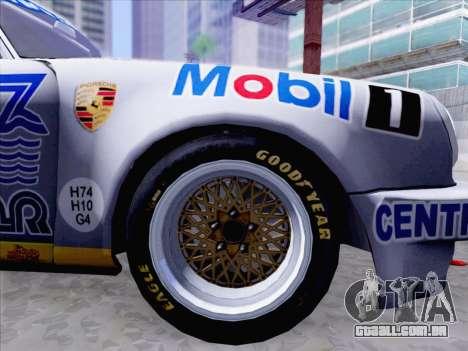 Porsche 911 RSR 3.3 skinpack 1 para GTA San Andreas vista direita
