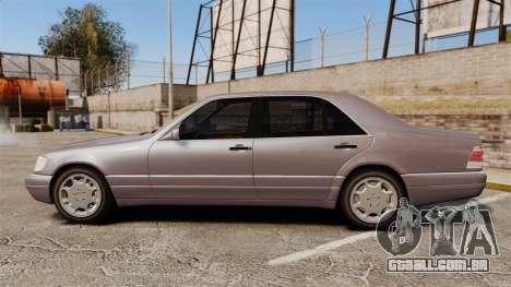Mercedes-Benz S600 W140 para GTA 4 esquerda vista