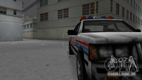 BETA Police Car para GTA Vice City vista traseira