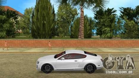 Bentley Continental Extremesports para GTA Vice City deixou vista