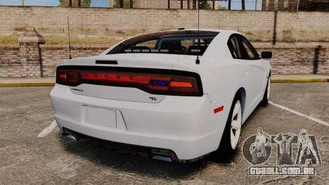 Dodge Charger RT 2012 Unmarked Police [ELS] para GTA 4 traseira esquerda vista